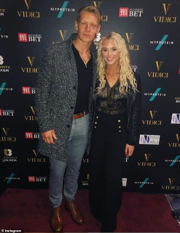 Love life: Fitness enthusiast Charlie is best known for his ill-fated romances with Hayley Hughes, as well as 2019 contestants Lucie Donlan (pictured in 2018) and Arabella Chi
