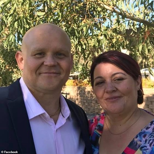 The young couple lived in Adelaide and were visiting K¿osowski's property, where he lives with Lukasz's stepmother Monica (pictured together), for a family gathering