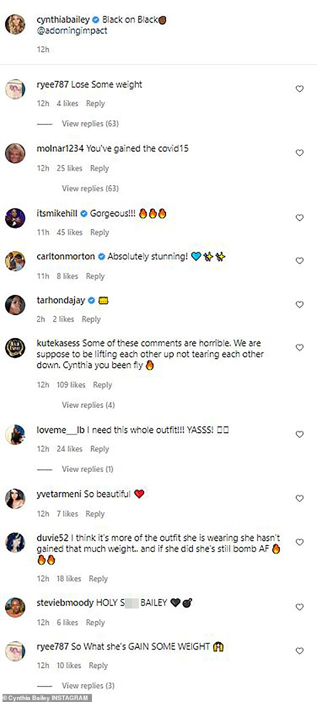 Online defense: Fans of the RHOA star lent their support as they bashed the users for negative commentary