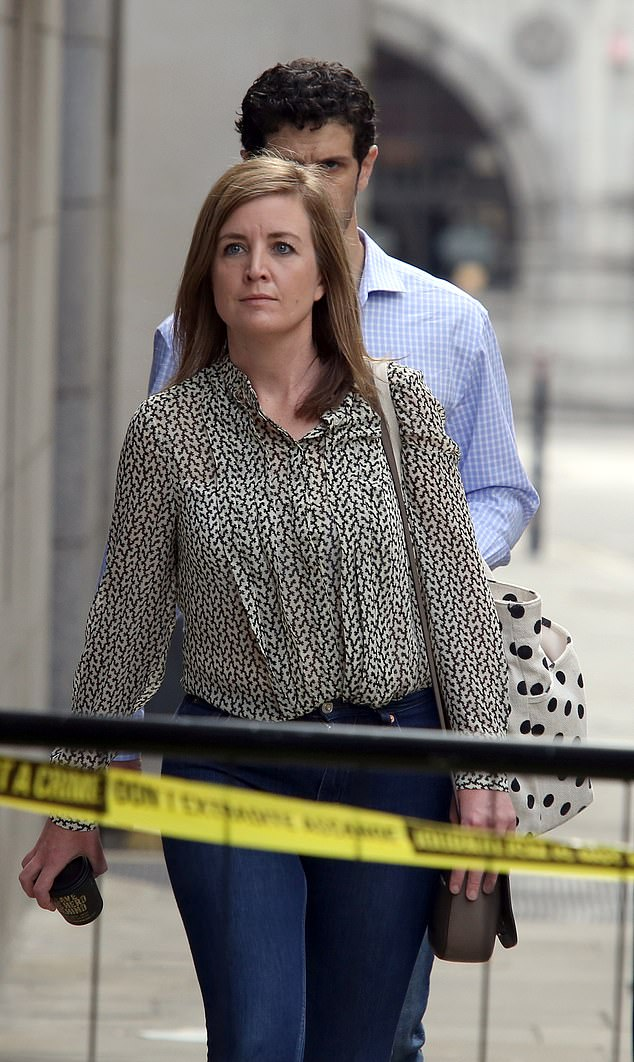 Mrs Conlon, pictured at the Old Bailey today, took the stand to tell the court how the attack had changed her life