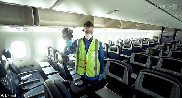 However, the airline notes the robot will not take the place of its daily electrostatic spraying process that uses electrostatic sprayers every seven days