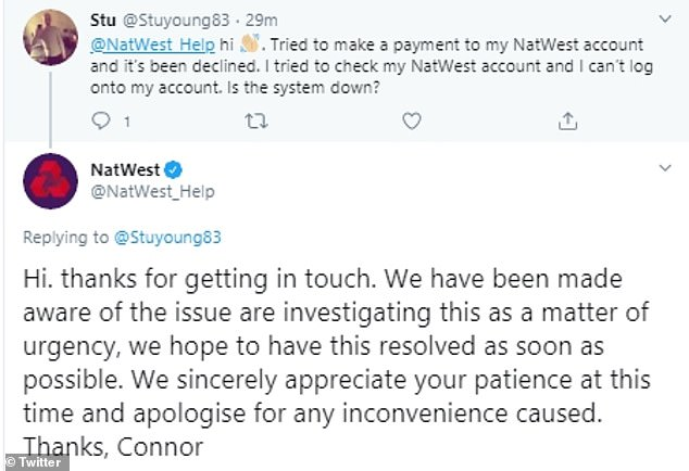 Natwest Banking Goes Down Across Much Of The Uk Leaving Customers Locked Out Of Their Accounts Daily Mail Online