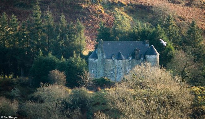 Kilmartin Castle is a formidable fortress home on the outside - and a hipster chic place to stay on the inside