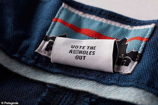 Patagonia sparked controversy by hiding the phrase 'Vote the a**holes out' on a tag inside its latest line of shorts