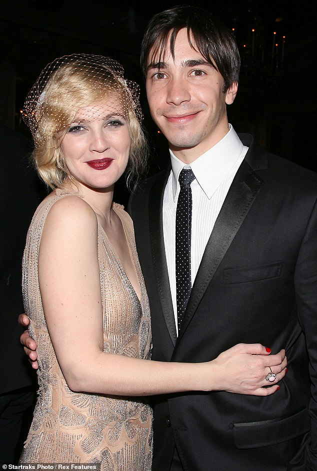 Close couple: Barrymore and Justin Long Grey Gardens premiere in 2009 in NYC