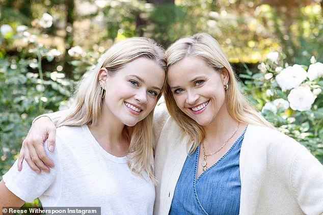 Now they are best friends: Ava and Reese seen this year at home; they are 22 years apart
