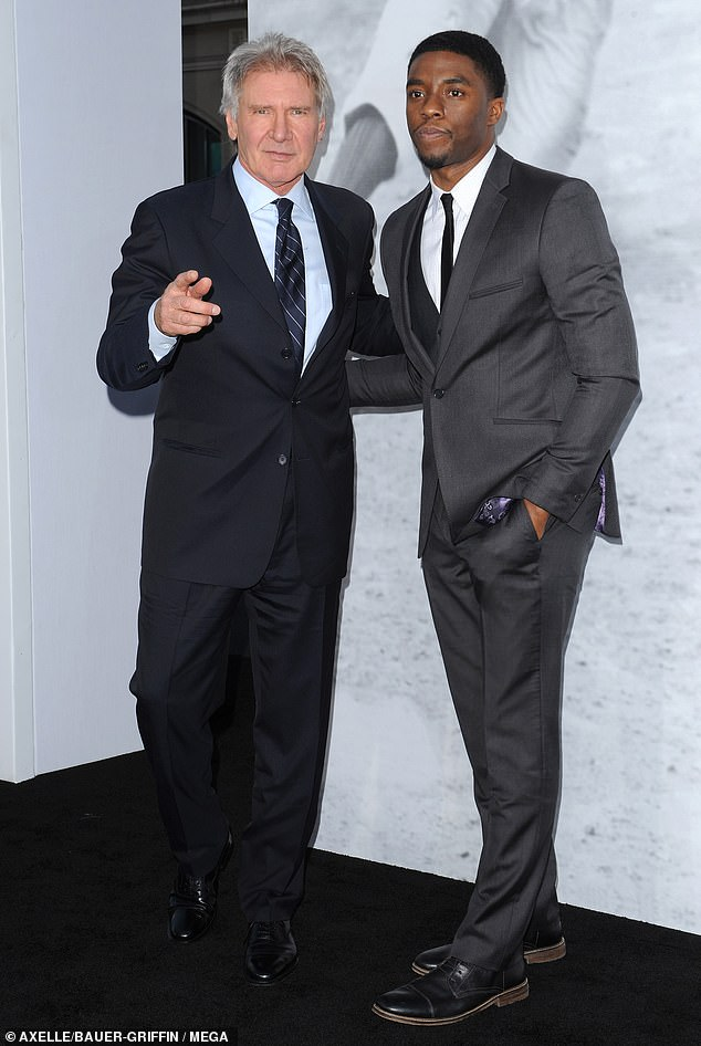 Friends:Late last month, Harrison gave the ultimate tribute to his late co-star Chadwick Boseman who died at the age of 43 following complications from colon cancer; seen in 2013