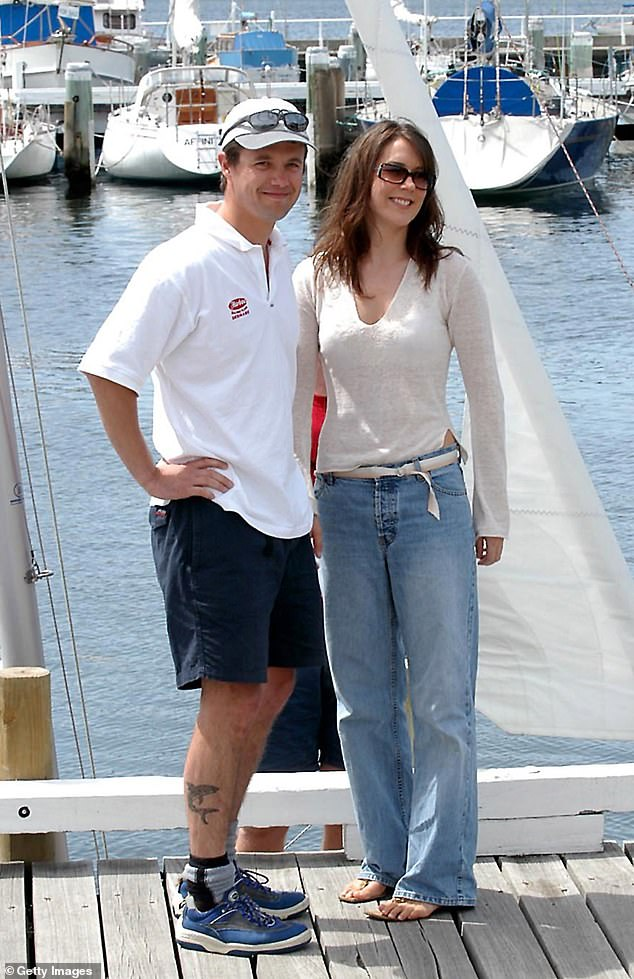 Frederik and Mary make their first official appearance together at the Tasmania Yacht Club ahead of the Dragon Boat World Championship on January 19, 2003