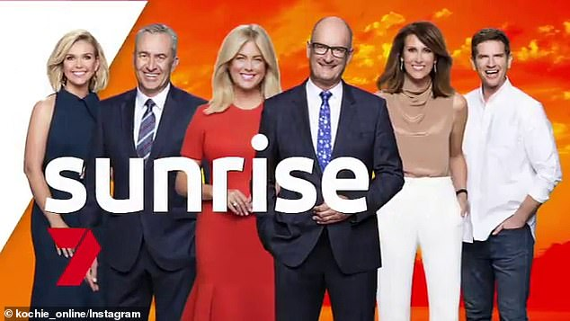 Has he gone under the knife?In 2018, Kochie was left baffled when a lie detector machine claimed he had answered a question regarding plastic surgery 'with deception'. Pictured (L-R): Edwina Bartholomew, Mark Beretta, Sam Armytage, Kochie, Natalie Barr and Sam Mac