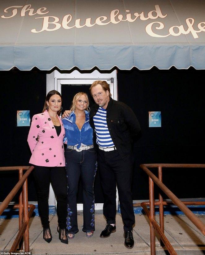 Bluebird:Miranda Lambert sang the aptly titled Bluebird from the small stage at the Bluebird Cafe withLuke Dick and Natalie Hemby