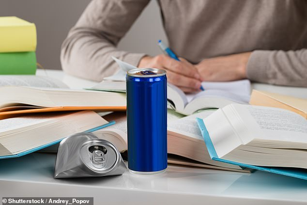 Levels of hydrogen peroxide in some energy drinks were found to be 15,000-fold higher than the natural levels produced in the body (stock)