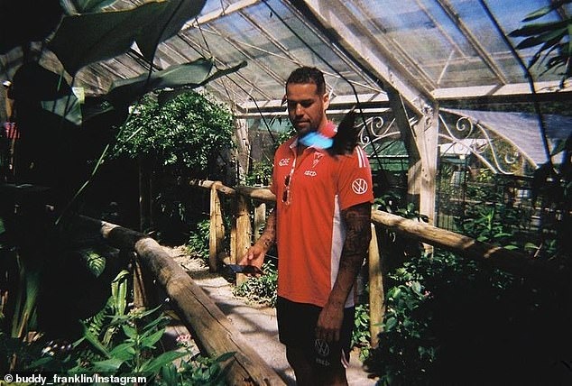 The 300-game superstar also took time out to visit a local butterfly sanctuary