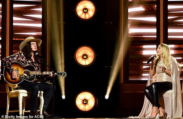 Dream of a duo:Although the awards show was broadcast this Wednesday the hot couple's portion was recorded at the Ryman Auditorium on August 25