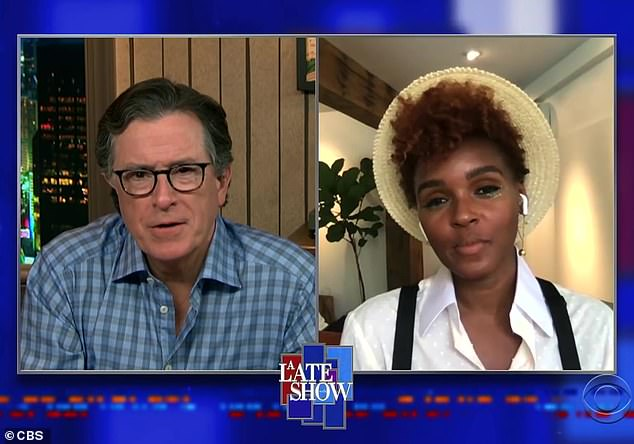I'll never forget it': During an appearance on The Late Show With Stephen Colbert, Janelle Monae recalled her 'last dance' with the late Black Panther star Chadwick Boseman