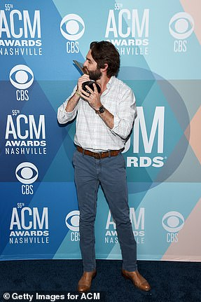 Sweet: Thomas Rhett not only took home Entertainer of the Year, but also earned Video of the Year