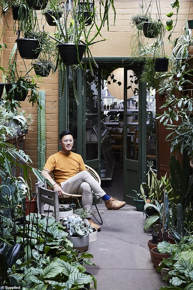 The 32-year-old interior designer said he has spent years of collecting rare and unusual plants