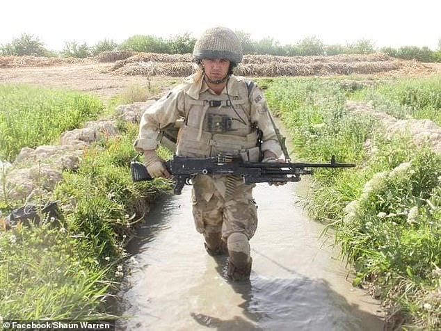Balenaka, 37, of the second battalion Yorkshire Regiment, hit fellow lance corporal Shaun Warren after a night out in Catterick, Yorkshire, last December. Mr Warren (in Afghanistan) suffered three bleeds on the brain and was left with permanent hearing loss