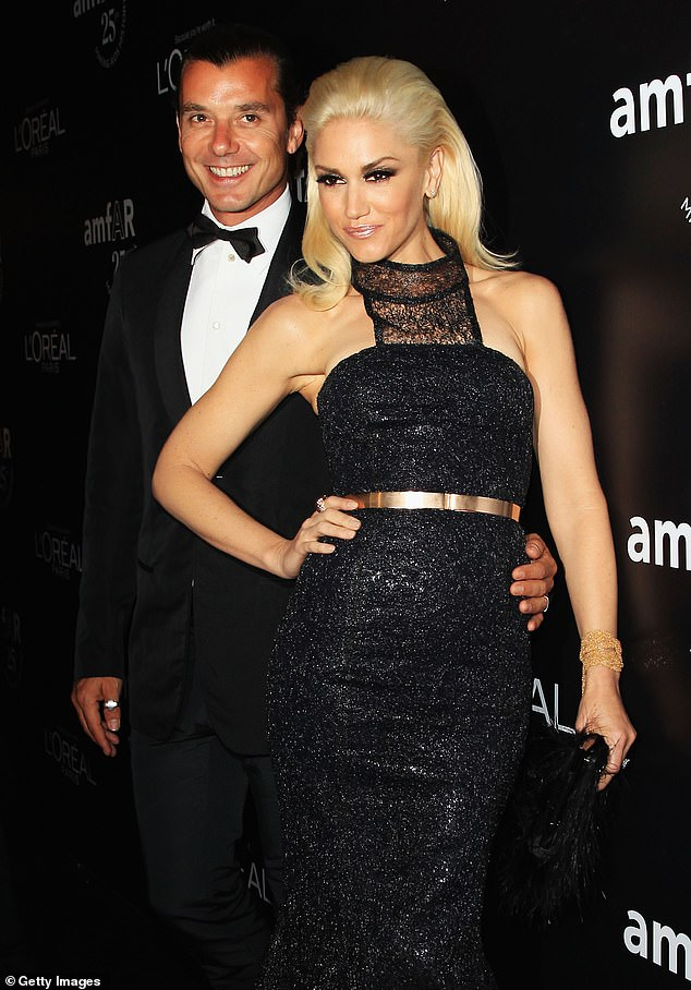 Happier times: Gwen and Gavin announced their split in August 2015 after 13 years of marriage, amid allegations he had cheated (pictured in 2011)