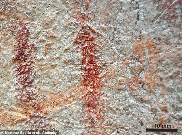 Painting Neolithic rock art was a social activity for both sexes and the young as well as the old, analysis of fingerprints on the wall of a Spanish rockshelter, pictured, has hinted