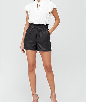 V by Very Faux Leather High Waisted Shorts (£28)