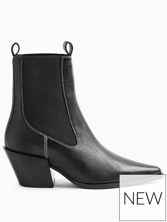 Topshop Mystery Leather Western Boots (were £79, now £51.25) at Very