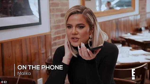 Khloé told her on the phone:'Someone who says they don't want to be around a lot of people, I'm just saying, I think 55 is a lot of f***ing people'