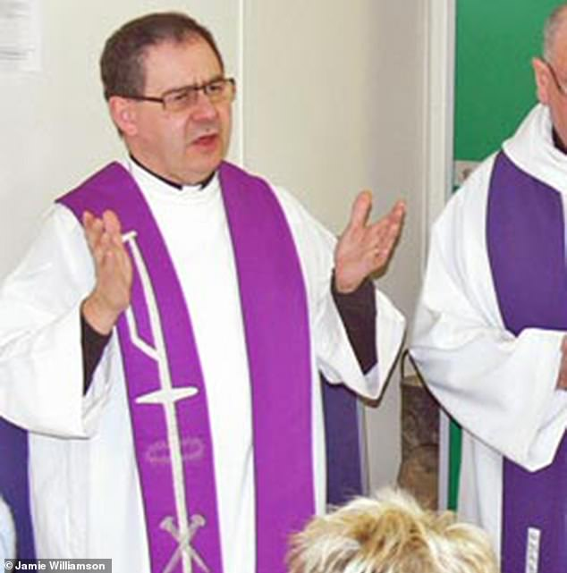 Former priest at St Mary's RC church in Saltcoats, Ayrshire, Stephen Motroni, 63, is accused of plying two young brothers with drink and playing strip poker when they were aged between five and 13
