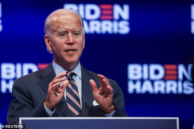 Joe Biden (pictured): 'The cash bail system incarcerates people who are presumed innocent. And, it disproportionately harms low-income individuals'
