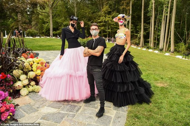Epidemic Fashion: Models, guests and staff all wore face masks