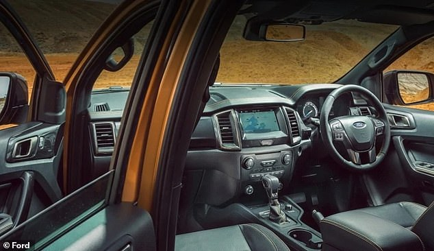 Formerly the domain of tradies, utes are gaining traction with a wider market and now account for more than one in five new car sales in Australia (pictured: the Ford Ranger XLT interior)