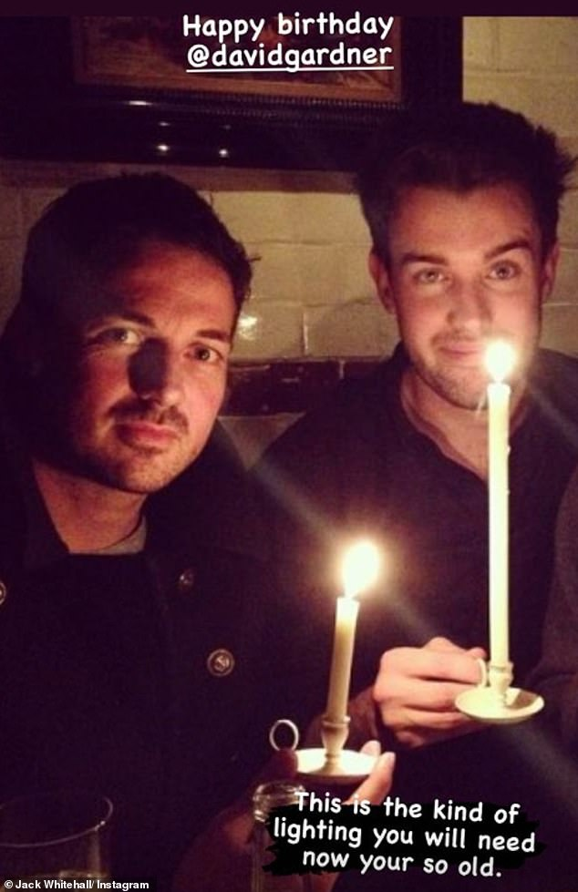 What a comic: Jack posted a picture of himself and Dave holding candles to improve their lighting on Stories