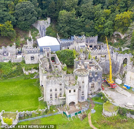 Facilities: But that's not all, as the castle is not fitted with running water so new facilities have been placed on one side of the building so that water can be pumped into the building for celebrities to use