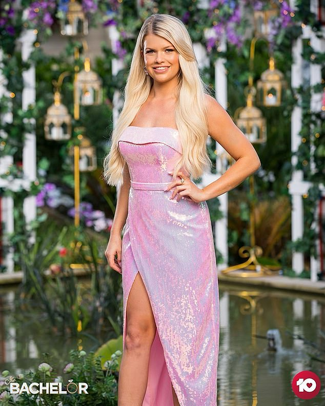 Oh no:Kaitlyn Hoppe (pictured) was sent home from The Bachelor on Thursday after failing to receive a rose from Locky Gilbert. But the intruder says her exit came as a complete shock