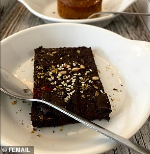 We stop for a snack, a chocolate brownie that gives just the right kick of energy, ahead of yet another workout