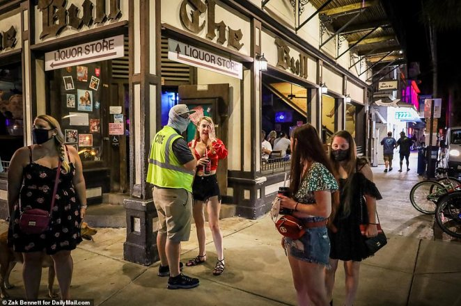 Code enforcement officers make sure people are wearing masks in Key West.Monroe County has a mandate in place that anyone over the age of six has to wear a mask while inside shops or restaurants, or face up to a $500 fine