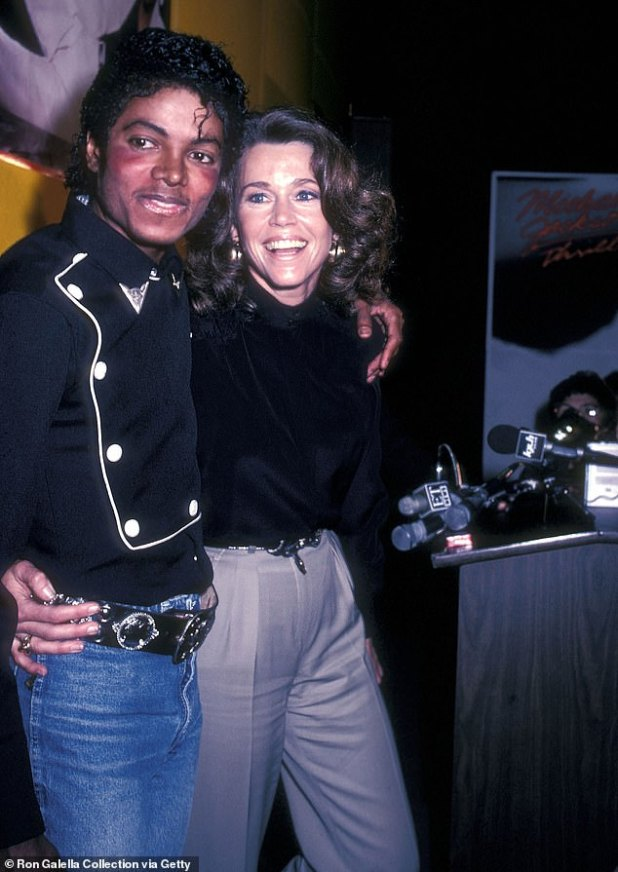 Friendly: Speaking of the late Michael Jackson, Grace and Frankie Starr confessed that they had once gone skinny-dipping and she 'knew him very well' (seen 1983)