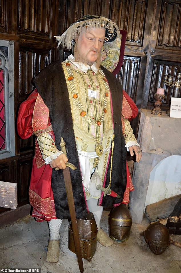 The collection includes a  wax model of of Henry VIII