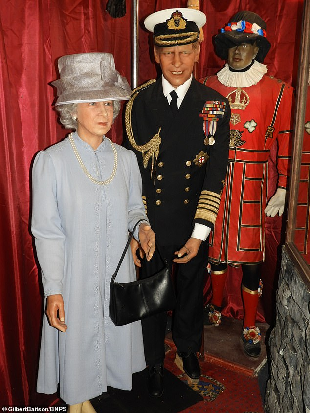 Wax models of the Queen and Prince Philip are up for sale