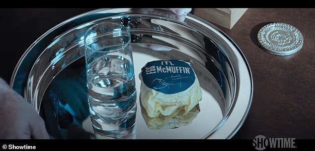 Another scene also references Trump's love for McDonald's, showing an egg McMuffin being delivered to his desk