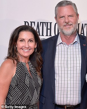 Jerry Falwell Jr and his wife Becki in 2018