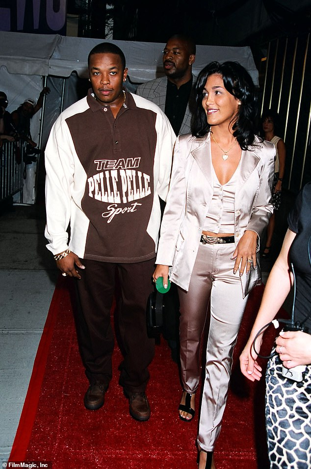 Better times: Young, who was previously wed to NBA player Sedale Threatt, said she initially signed one before their May 25, 1996 wedding, but Dr. Dre later destroyed it during the better times in the marriage two years later