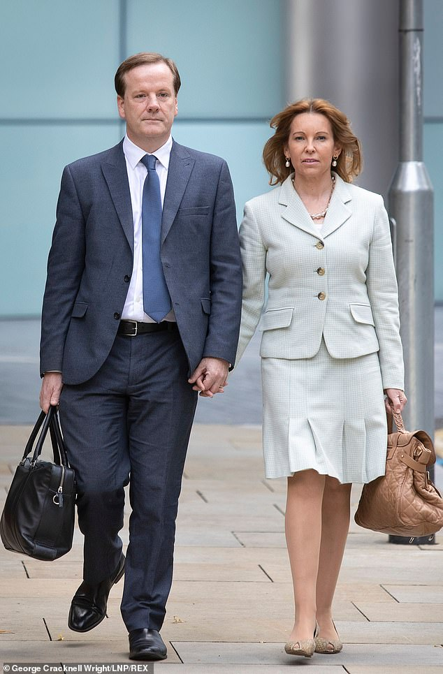 The last person you would have expected to defend him would be his estranged wife Natalie, pictured with Elphicke during the trial