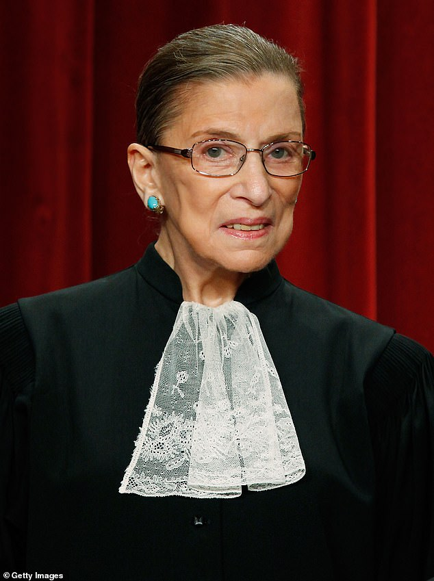 Justice Ruth Bader Ginsburg (pictured) on Friday evening succumbed to her battle withmetastatic pancreatic cancer and died at the age of 87