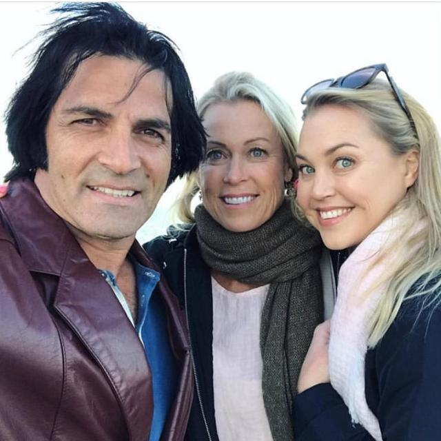 Condolences: Lisa's husband, Elvis Presley impersonator Mark Tabone (left), also addressed the tragedy in an Instagram post on Tuesday September 16. Pictured with Lisa andJaimi