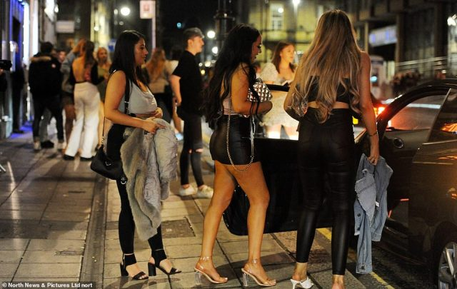 Three revellers head home as bars closed at 10pm last night in Newcastle city centre following new curfew rules