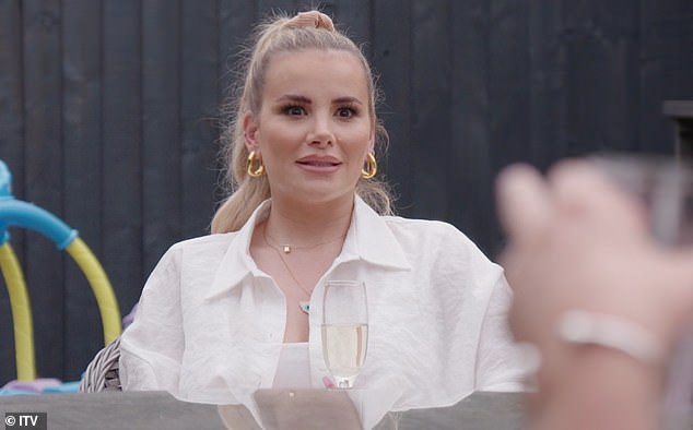 Bridezilla: Georgia looks on as the drama unfolds, before Harry quashes the argument: 'I think honestly, you've both got to work together for it'