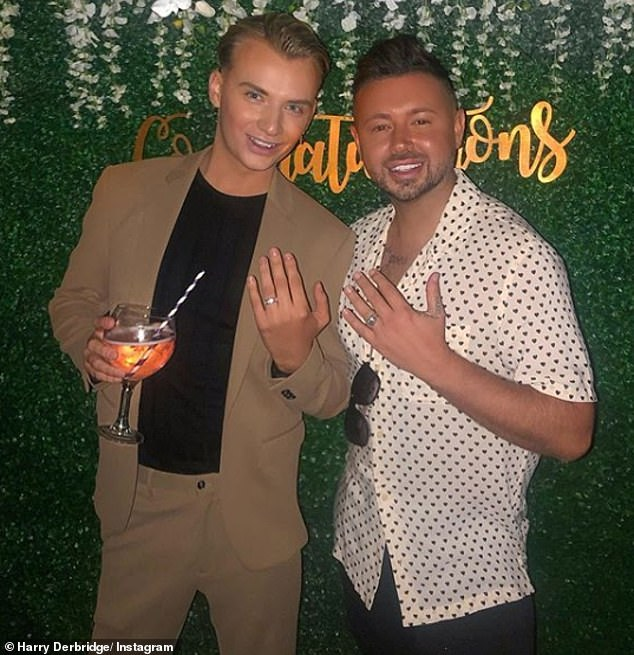 Congratulations! Harry and Dean became engaged in August last year, with Amy throwing them a lavish celebratory bash