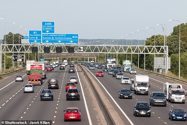 The unnamed woman fell from the car between junction six and the Clacket Lane Services