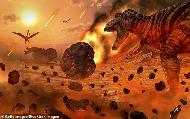 Dinosaurs feasted primarily on vegetation, which did not serve them well when the asteroid hit, sparking forest fires and leading to a prolonged impact winter that killed off more than three-quarters of plant life