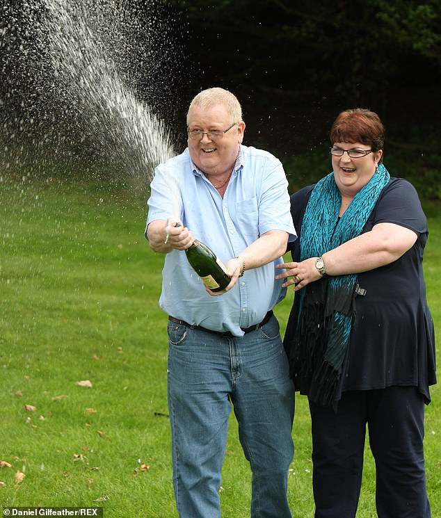The UK's biggest lottery winner Colin Weir, who scooped the £161million jackpot with his now ex-wife Christine in 2011 (above), died aged 71 in December last year